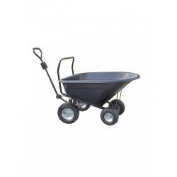 Brouette - Chariot basculant 140 Litres 4 roues CARRY KART 3400-003 NEUF...