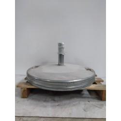 Pied de parasol en acier galvanisé avec poignées 67kg