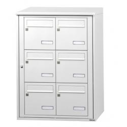 LEABOX 116219 - Bloc de 6 boîte aux lettres collective extérieur