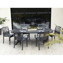 GROSFILLEX 49 275 002 - Lot de 11 fauteuils de jardin VEGETAL