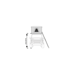 AUTOHOME 777519 - Echelle tente de toit téléscopique X-Long max 2.45m