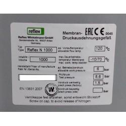 REFLEX 8218600 - Vase d'expansion 1000L de pression à membrane