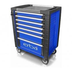 ERBA 14221 - Servante d'atelier 7 tiroirs