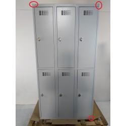 Armoire vestiaire de 6 casiers